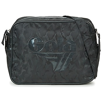 Gola REDFORD MILITARY men's Messenger bag in Black. Sizes available:One size