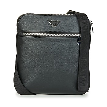 Emporio Armani BUSINESS FLAT MESSENGER BAG men's Pouch in Black. Sizes available:One size